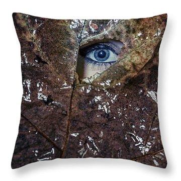 The Eye Throw Pillow by Joana Kruse