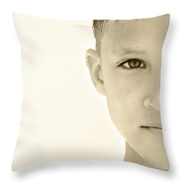 The Eye Of A Child Throw Pillow by Charles Beeler