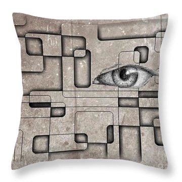 The Eye Of Big Brother Throw Pillow by John Malone