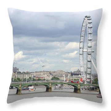 The Eye Of London Throw Pillow by Keith Armstrong