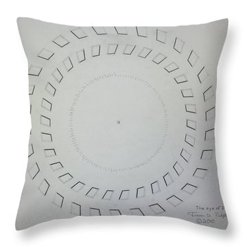 The Eye Of Pi Throw Pillow by Jason Padgett