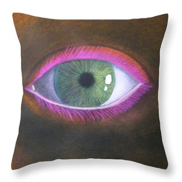 The Eye Of The One Throw Pillow