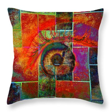 The Eye Throw Pillow by Ron Harpham