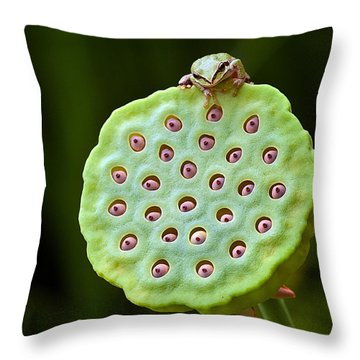 The Eyes Have It Throw Pillow by Jean Noren