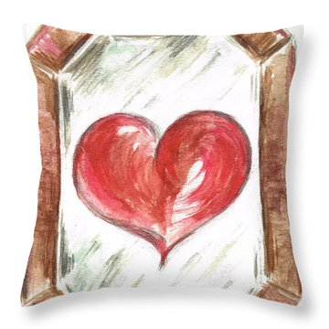 The Eyes Mirror The Heart Throw Pillow