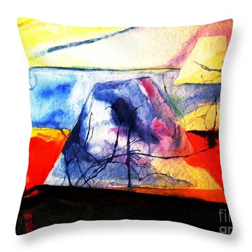 Throw Pillow featuring the painting The Fabric Of My Heart by Hazel Holland