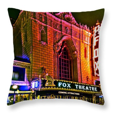 The Fabulous Fox In St. Louis Throw Pillow