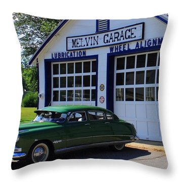 The Fabulous Hudson Hornet Throw Pillow