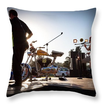 The Fabulous Kingpins - Pullman's 4th Of July Celebration Throw Pillow by David Patterson