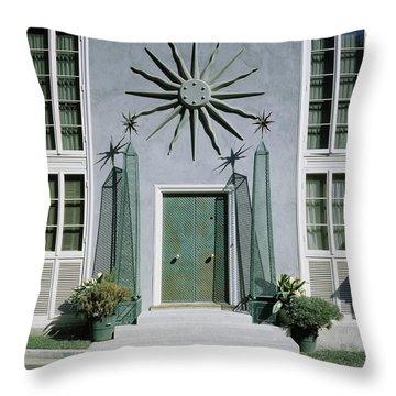 The Facade Of Tony Duquette's House Throw Pillow