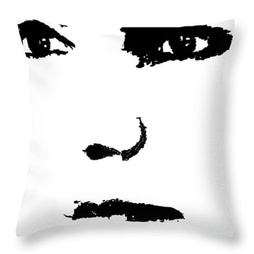 The Face Throw Pillow by Cherise Foster