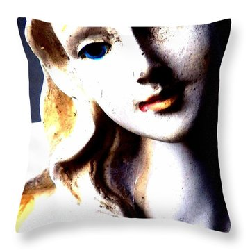 Throw Pillow featuring the photograph The Face Of A Woman by Faith Williams