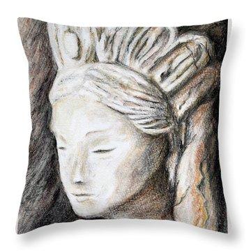 The Face Of Quan Yin Throw Pillow