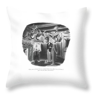 The Fact Is I Don't Know A Single Damn Story Throw Pillow