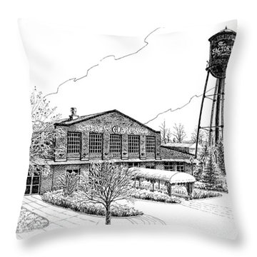 The Factory In Franklin Tennessee Throw Pillow