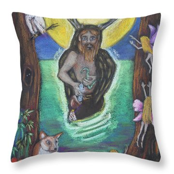 The Faery Shaman Throw Pillow by Diana Haronis