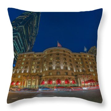 The Fairmont Copley Hotel Throw Pillow