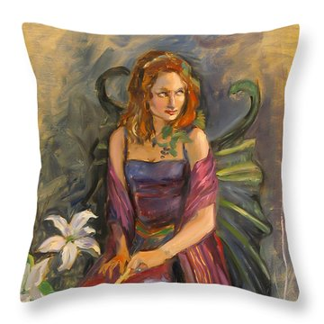 The Fairy Throw Pillow by Dominique Amendola