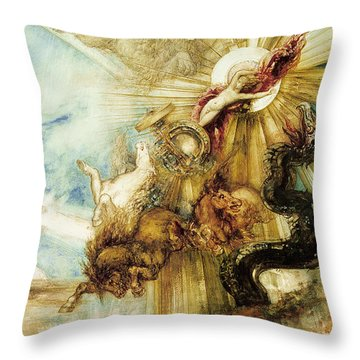 The Fall Of Phaethon Throw Pillow by Gustave Moreau