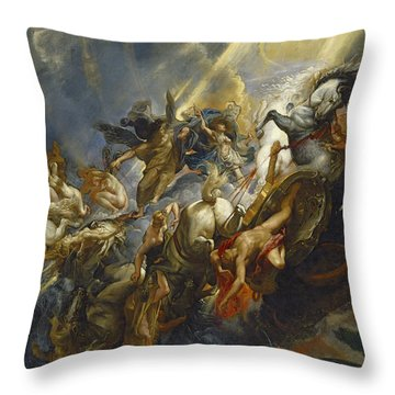 The Fall Of Phaeton Throw Pillow by  Peter Paul Rubens