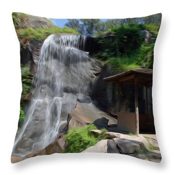 Throw Pillow featuring the photograph The Falls At Maymont by Kelvin Booker
