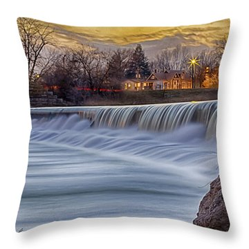 The Falls Of White River Throw Pillow