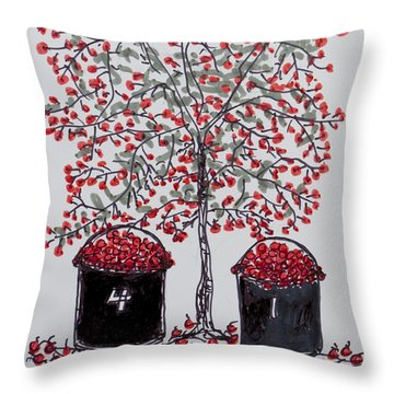 The Famous Door County Cherry Tree Throw Pillow