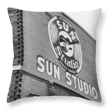 The Famous Sun Studio In Memphis Tennessee Throw Pillow by Dan Sproul