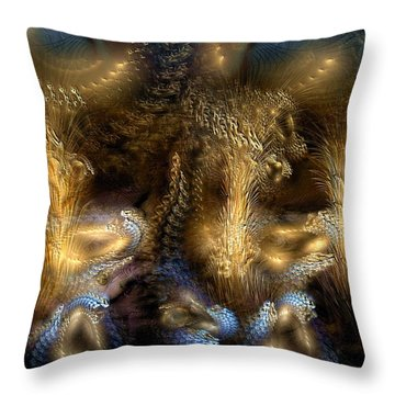 Throw Pillow featuring the digital art The Far Country by Casey Kotas