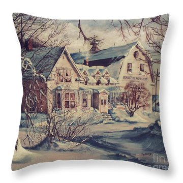 The Farm Throw Pillow by Joy Nichols