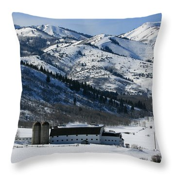 The Farm Throw Pillow by Marty Fancy