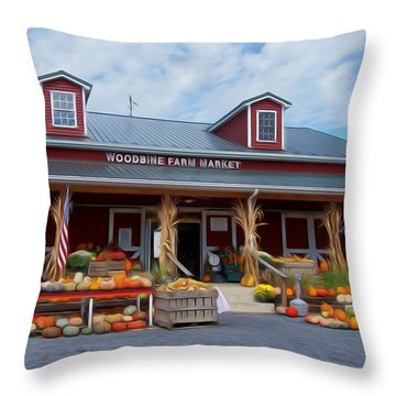 The Farm Stand Throw Pillow by Jewels Blake Hamrick