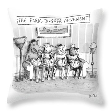 The Farm-to-sofa Movement Throw Pillow