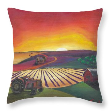 'the Farm' Throw Pillow
