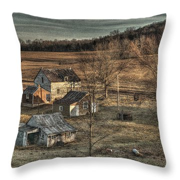 The Farmer In The Dell Throw Pillow by William Fields