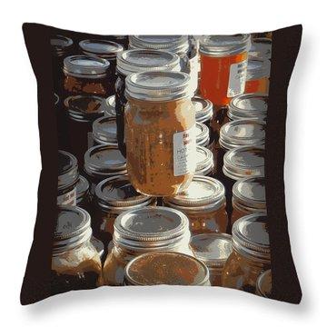 The Farmers Market Throw Pillow