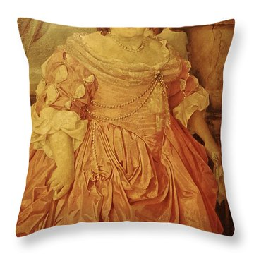 The Fat Lady Throw Pillow by Gina Dsgn
