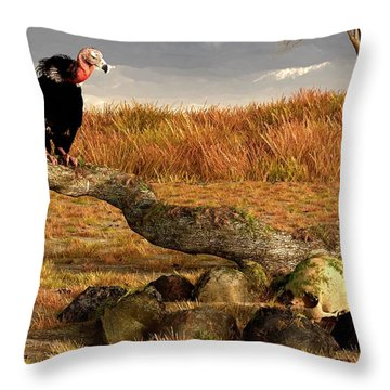 The Feast Of Cannibals  Throw Pillow by Daniel Eskridge