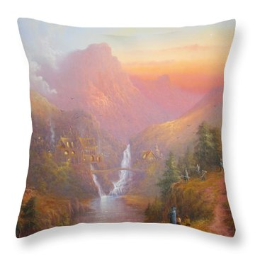The Fellowship Of The Ring Throw Pillow by Joe  Gilronan
