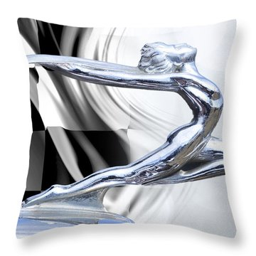 The Female Winner Throw Pillow by Davina Washington