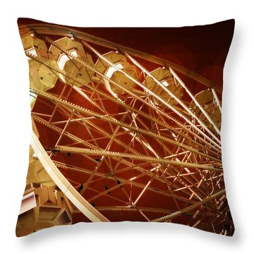 Throw Pillow featuring the photograph The Ferris Wheel by Bob Pardue