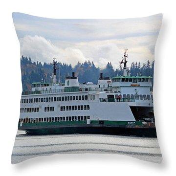 The Ferry Kitsap Throw Pillow