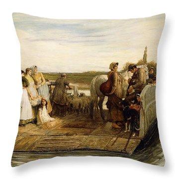 The Ferry Throw Pillow by Robert Walker Macbeth