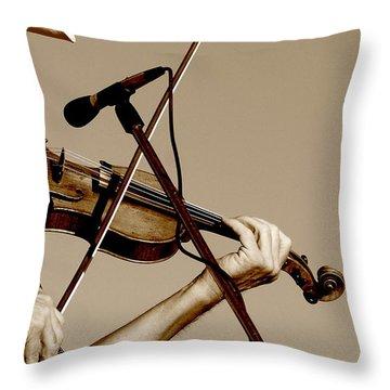 The Fiddler Throw Pillow by Robert Frederick