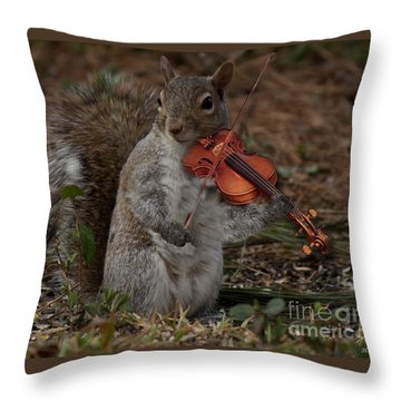 The Fiddler Throw Pillow