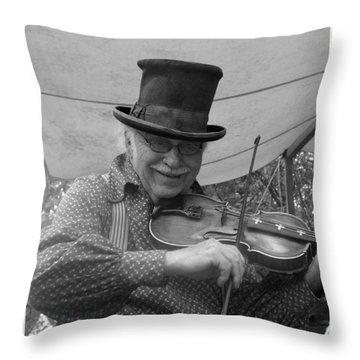 The Fiddler Throw Pillow by Sara  Raber