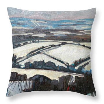 The Fifth Line Throw Pillow by Phil Chadwick