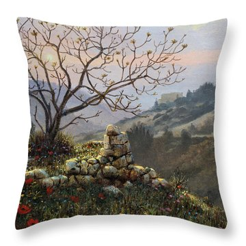 The Fig Tree   Mt Carmel Throw Pillow