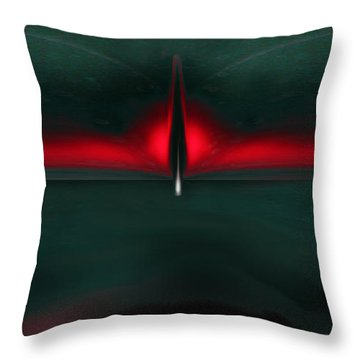 The Fight Of The Phoenix Throw Pillow by Martina  Rathgens