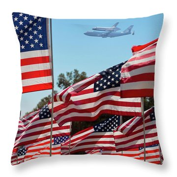 The Final Flight Of The Space Shuttle Throw Pillow